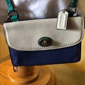 COACH Small Blue & White Crossbody Bag